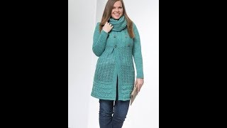Вязание Спицами - Кардиган для Полных 2018 / Knitting with Cardigan Spits for Full