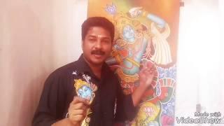 Kerala Mural KRISHNA FACE  DRAWING Art Class 6
