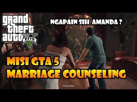 NGAPAIN SIH AMANDA ? Misi GTA 5 - Marriage Counselling #5