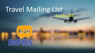 How do travel email lists deliver huge profits? #travel #travelers #email #mailing #list #USA #UK