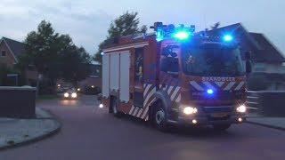 Brandweer Mijnsherenlaan Rotterdam met spoed onderweg naar een melding in Barendrecht!