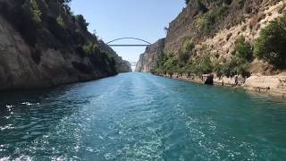 Transiting the Corinth Canal on a 43ft Sailing Boat
