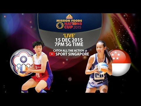 Netball: Singapore vs Chinese Taipei | Mission Foods Nations Cup 2015