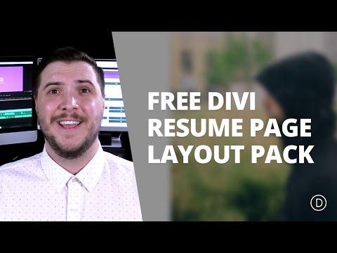 Free Divi Download: Resume Layout Pack