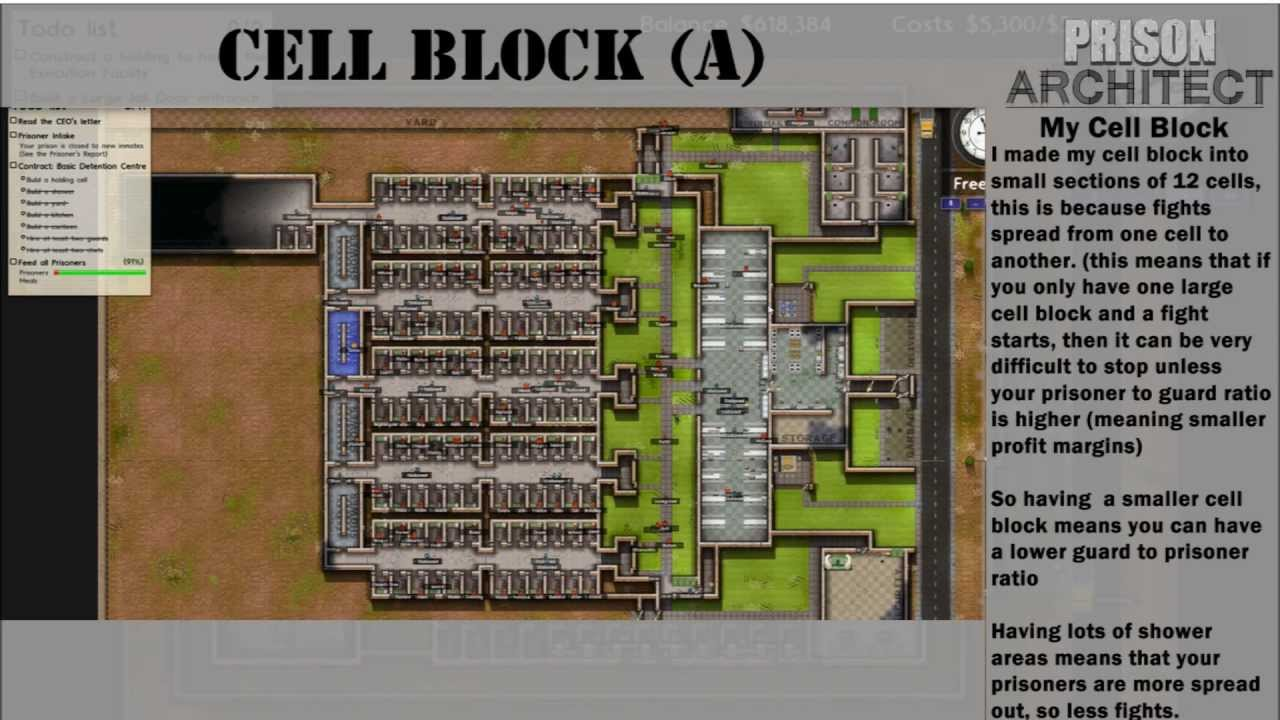 Prison Architect Super Max Tips HD YouTube