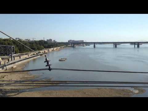 Новосибирск из окна поезда
