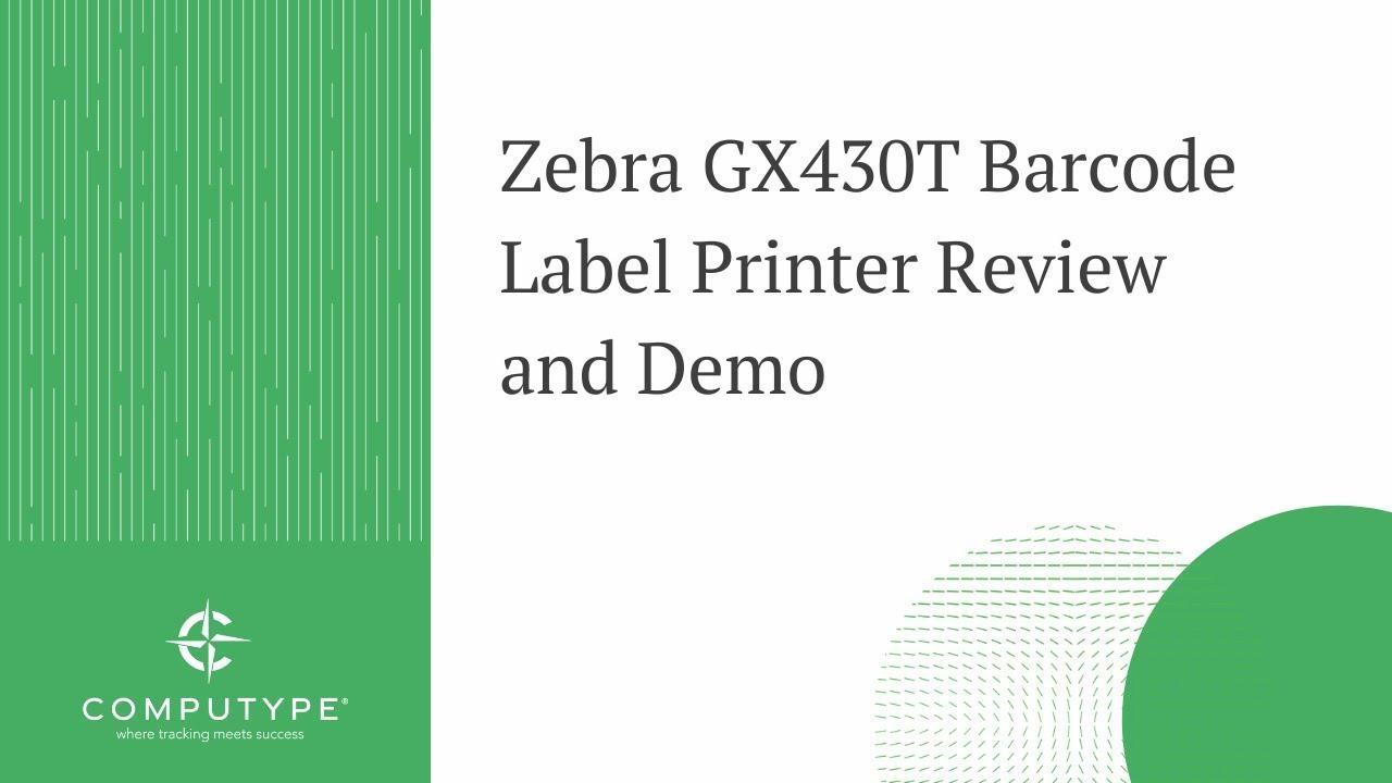 Zebra GX Series Barcode Label Printer Review (Benefits
