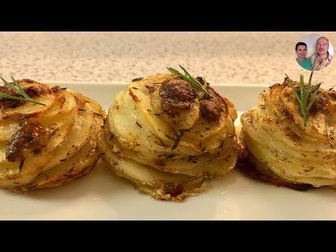 Картофель Запеченный в Фольге с Пармезаном! Как сделать Формочки из Фольги!
