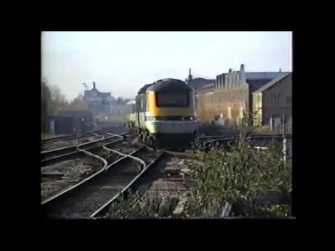 Swindon with diverted Virgin Trains services and Great Western services. Filmed in the 90s