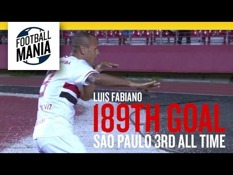 Luis Fabiano 189th Goal - Third in São Paulo's all-time top scorers list