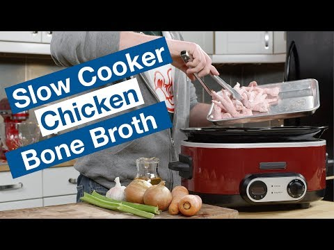 🔴 Slow Cooker Chicken Bone Broth Recipe