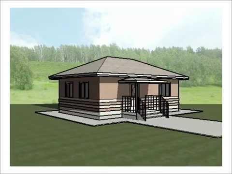 Проект каркасного дома 6х9 м. КД-20