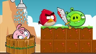 Angry Birds Take A Shower - RED KICK PIGGIES AND TAKE SHOWER FOR STELLA!!