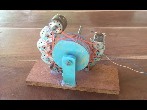 Experiment 10 DC motors combination , Very strong
