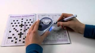 Produktvideo zu Handlupe mit 5-facher Vergrößerung Eschenbach Powerlux 5