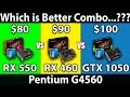 RX 550 (2GB) vs RX 460 (2GB) vs GTX 1050 (2GB) | Pentium G4560 | DX11 & DX12 | 14 Games Benchmarks
