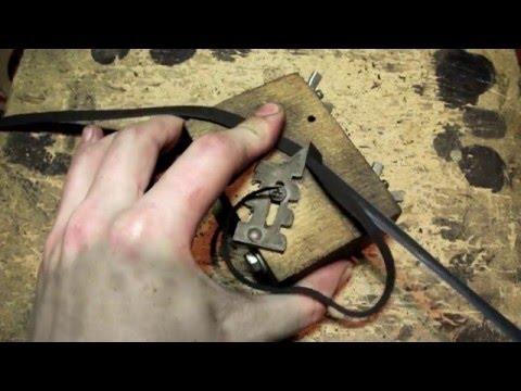 (Изготовление Нагайки) Подготовка полос перед плетением Whip Making