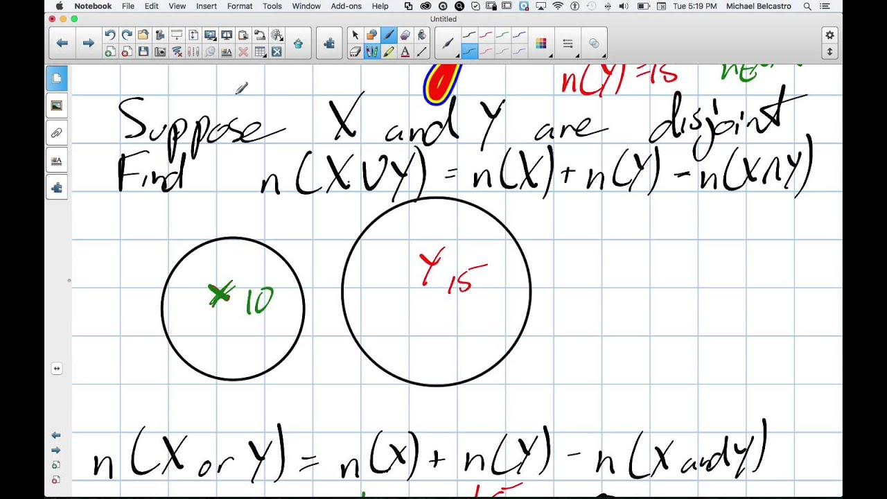 venn diagrams with disjoint sets grade 12 data management lesson 5 1 11 10  15