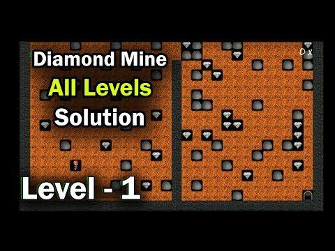 Diamond Mine Level 1 Collected All 30 Diamonds