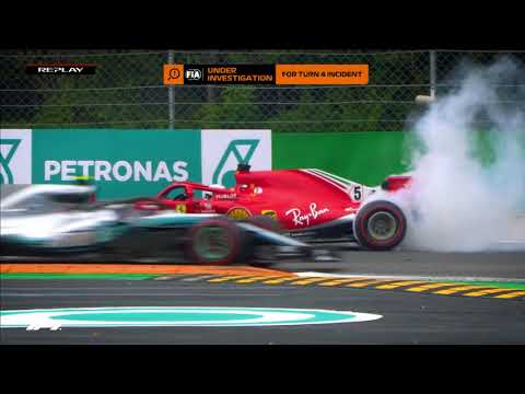 Hamilton and Vettel Collide at Monza   2018 Italian Grand Prix