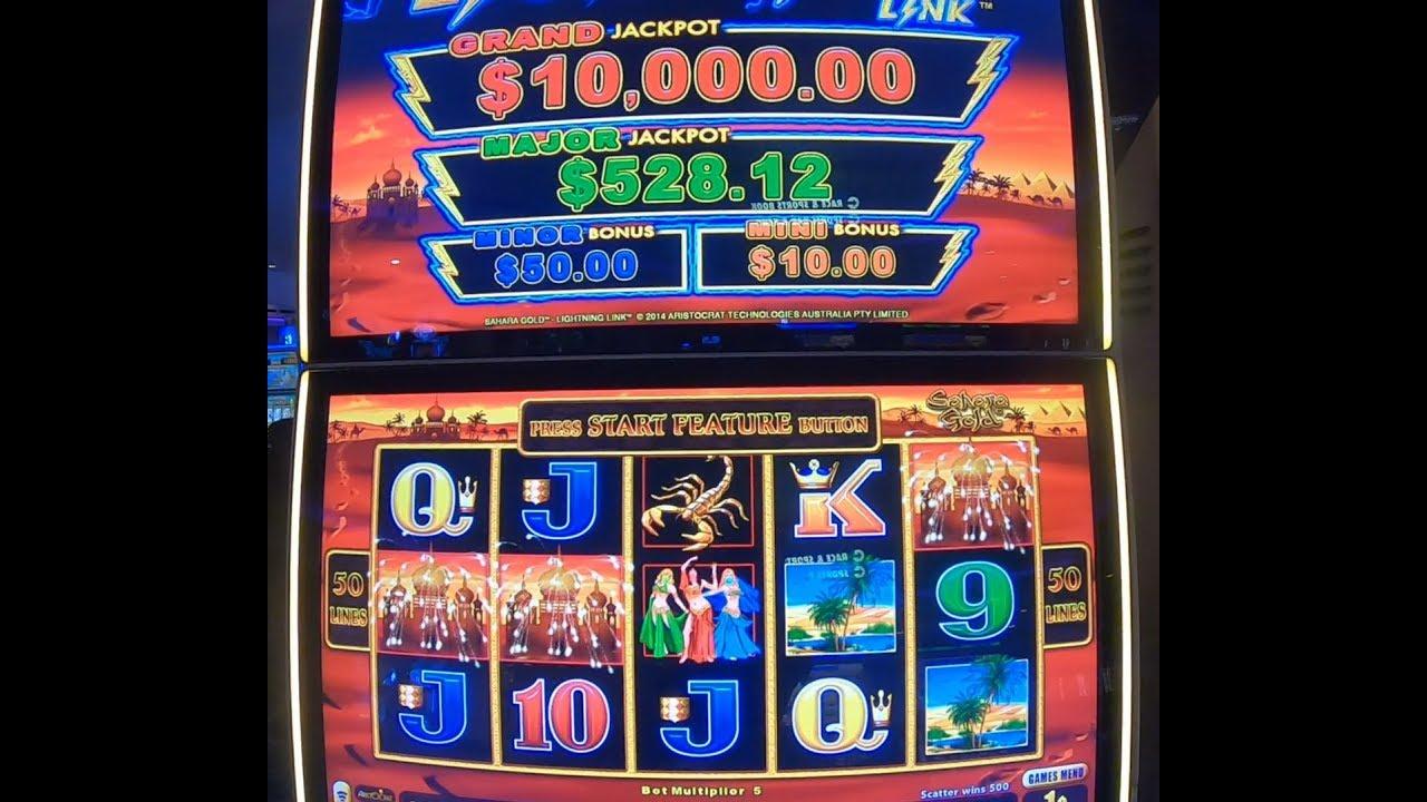 Lightning Link Slot Machine Aristocrat Sahara Gold Best Bet