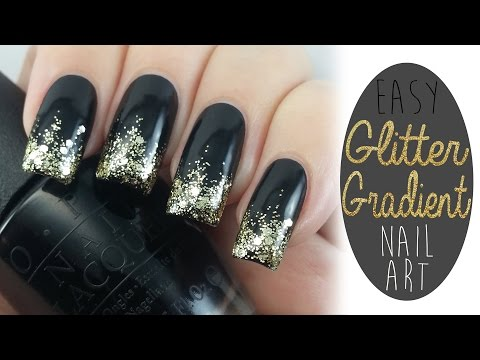 Easy Glitter Gradient Nail Art Tutorial