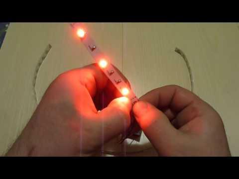 Как подключить светодиодную ленту к батарейке