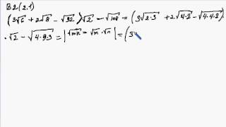 Корені/ ірраціональні вирази/ В2(2.1)