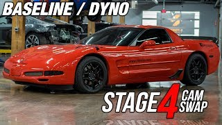 C5 Z06 | AGGRESSIVE Stage 4 BTR CAM Dyno | Idle, Baseline and Power Pulls