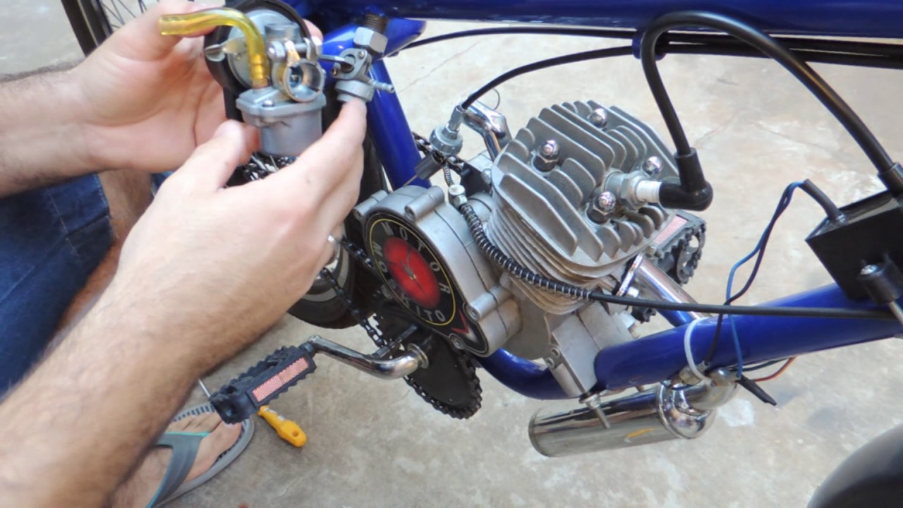 Carburador Com Vazamento de óleo bicicleta motorizada moskito