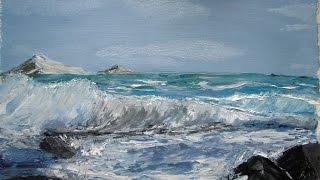 Уроки живописи: рисуем морской пейзаж маслянными красками (мастер-класс Буянова Дмитрия)
