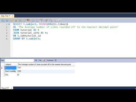 SQL Tutorial - 34: ROUND() Function