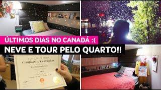 Vlog Canadá: neve, jantares especiais, tour do quarto, último dia de aula :( • Karol Pinheiro