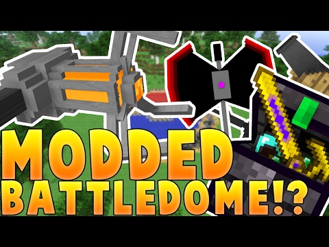 Minecraft OP WEAPONS AND GRAVITY GUNS MODDED BATTLEDOME CHALLENGE - Minecraft Mod