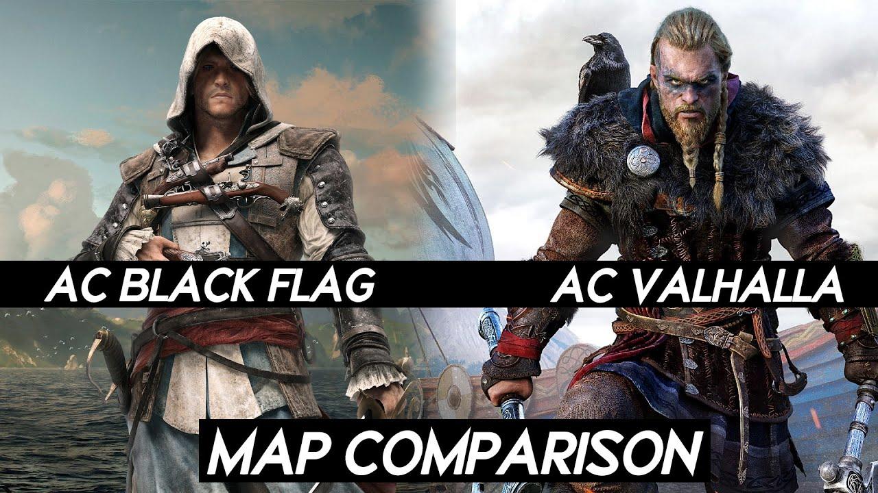 assassins creed black flag map comparison
