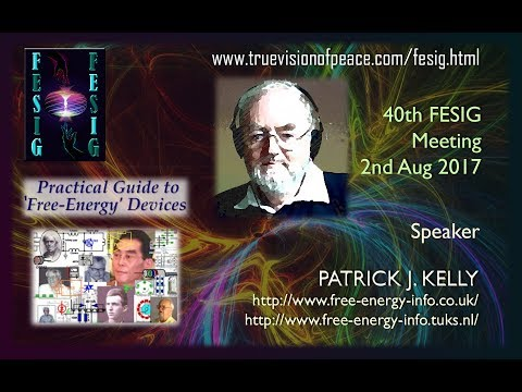 FESIG 40th Meeting with Patrick J Kelly - 'A Practical Guide to Free Energy'