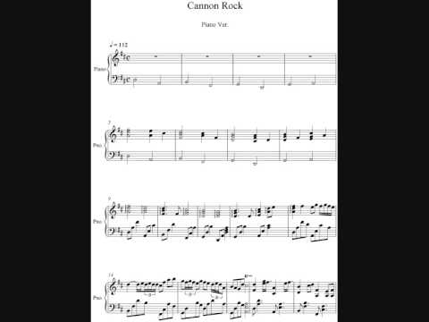 cannon rock piano ver. music sheet. - YouTube