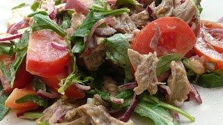 Сытный салатик к ужину,такой никогда не приедается!