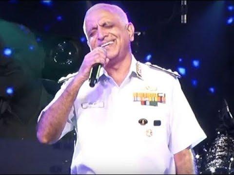 Commander In Chief: Vice Admiral Girish Luthra Singing Ghar Se Nikalte Hi