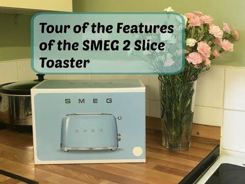 Tour of the Features of the SMEG 2 Slice Toaster (Retro 50's Styling)