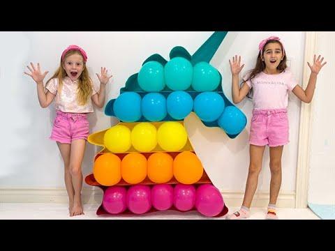 Nastya and friends play Pop It Challenge