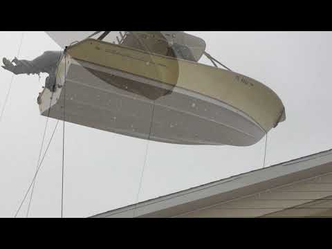 Boat Removal with crane