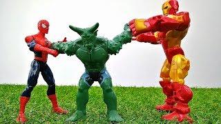 Железный Человек и Спайдермен охраняют электростанцию! Игры с супергероями.