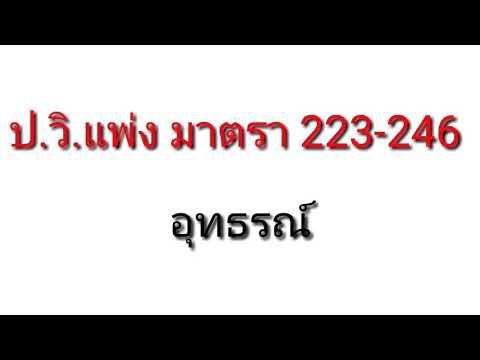 ประมวลกฎหมายวิธีพิจารณาความแพ่ง มาตรา 223246