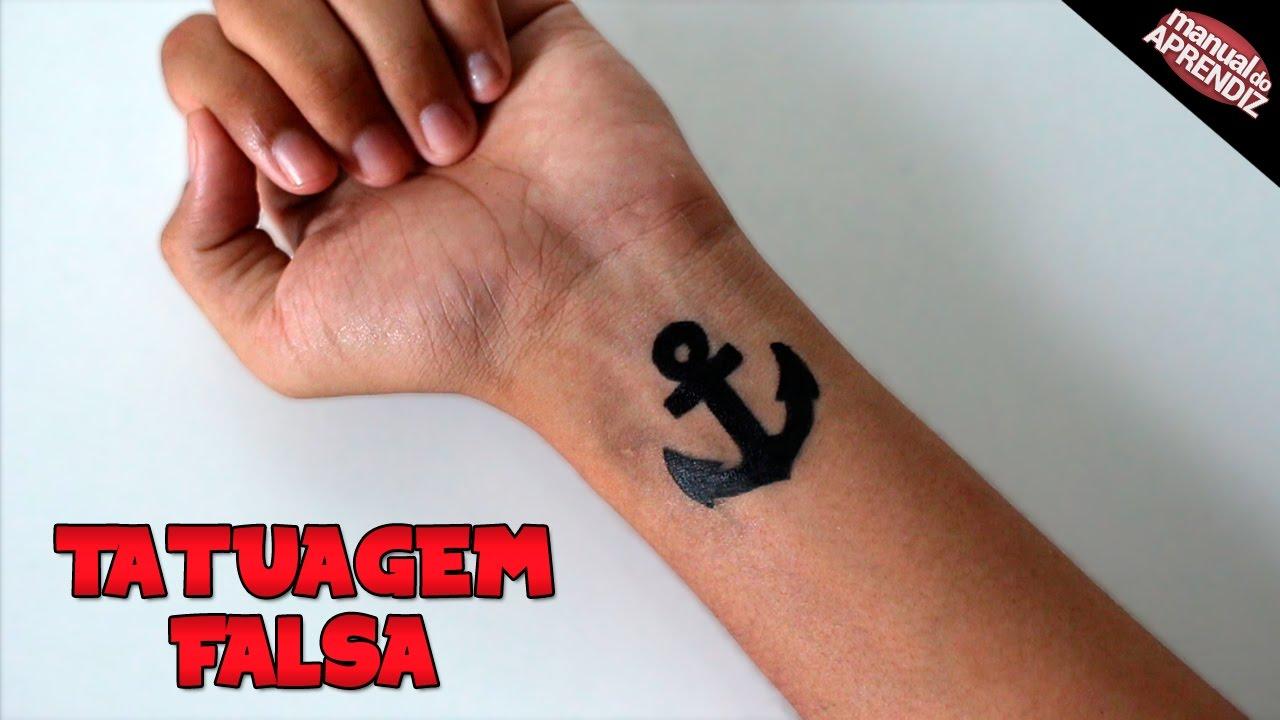 Como Fazer Tatuagem Falsa Realista E Fácil
