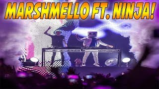 Marshmello Brings Out Ninja On Stage! Then They #BoogieDown