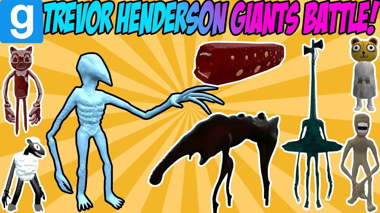 THE BIGGEST TREVOR HENDERSON BATTLE! - Garry's Mod Sandbox