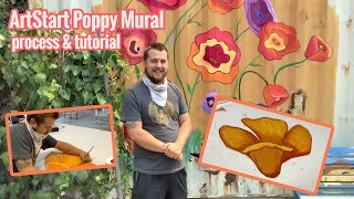 How To Make A Poppy for the Recology Mural - Process & Tutorial