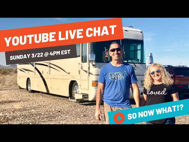 So What Now? LIVESTREAM with RVLove + RV Resource Roundup for COVID-19 FAQ: Official Links, Closures