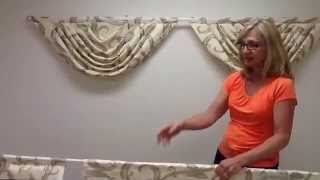 How to hang 3 swags with jabots on a double curtain rod Thumbnail